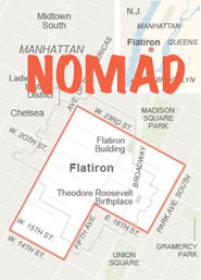 Map of the NoMad district in the New York Times