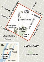 The Intersection Between Two New York Neighborhoods, NoMad and Flatiron