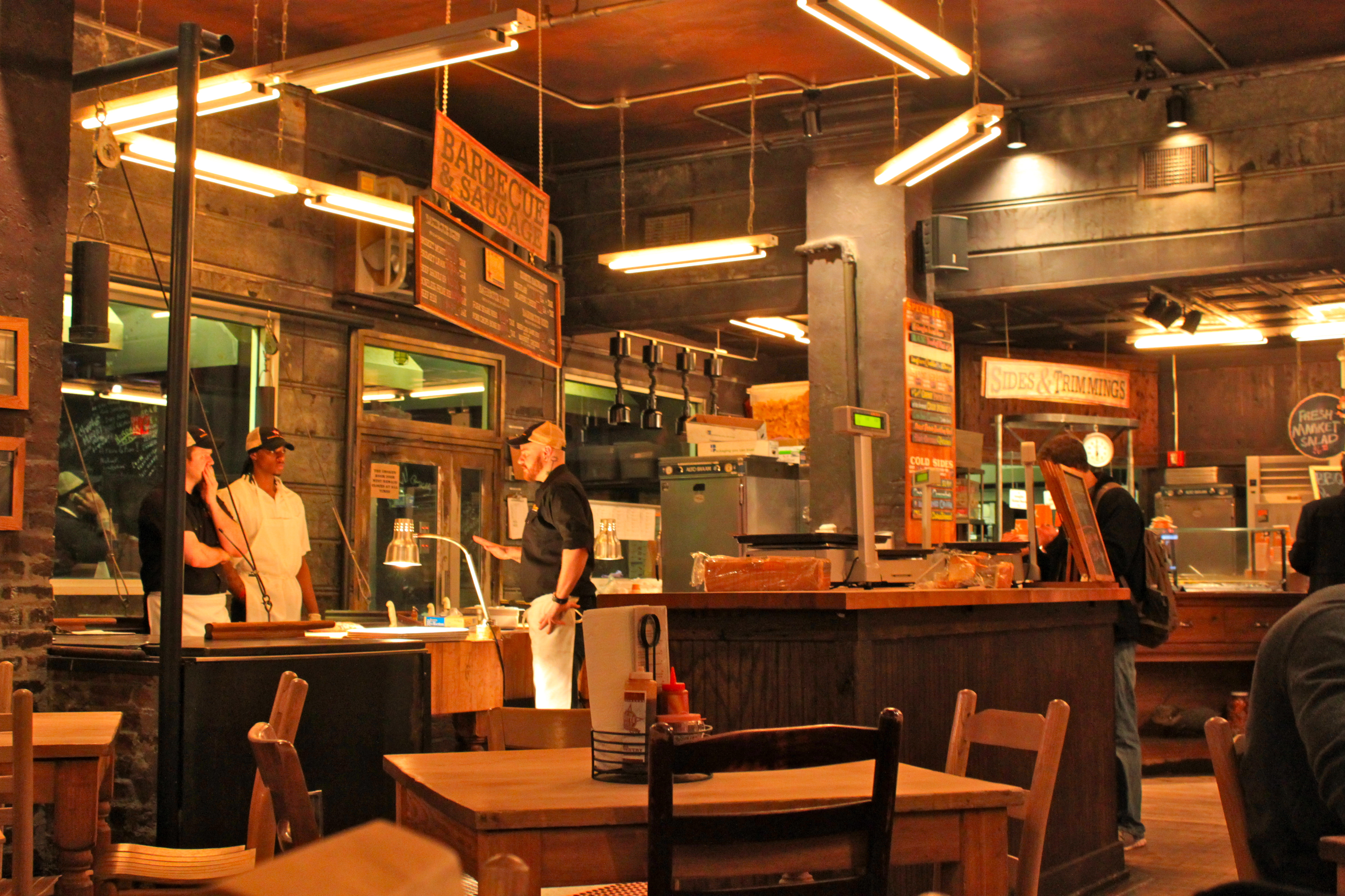 Go to Hill Country Barbecue for the best barbecued meats around New York City.