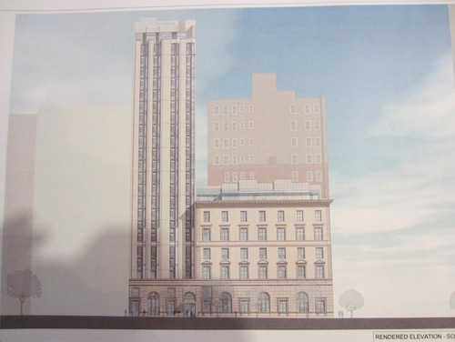 There is a proposal for a new hotel in NoMad New York