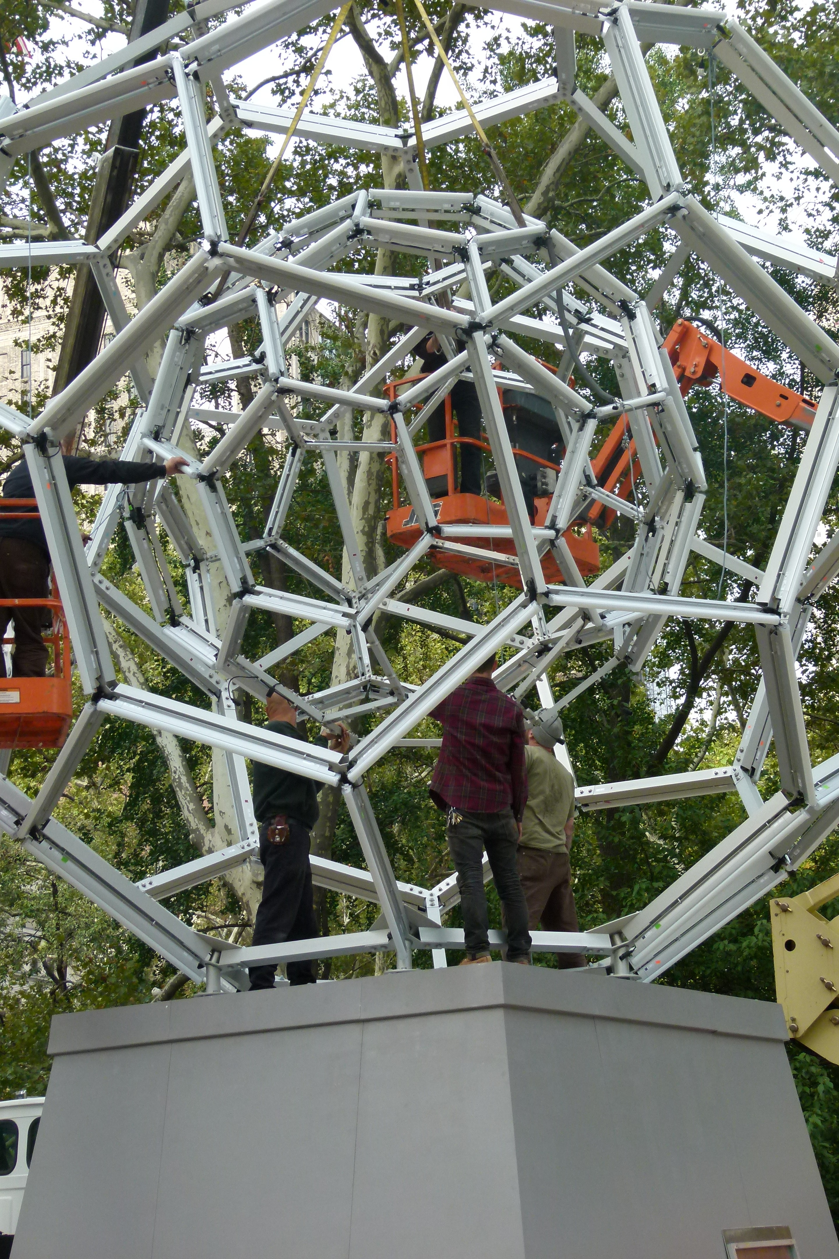 Buckyball in Madison Square Park