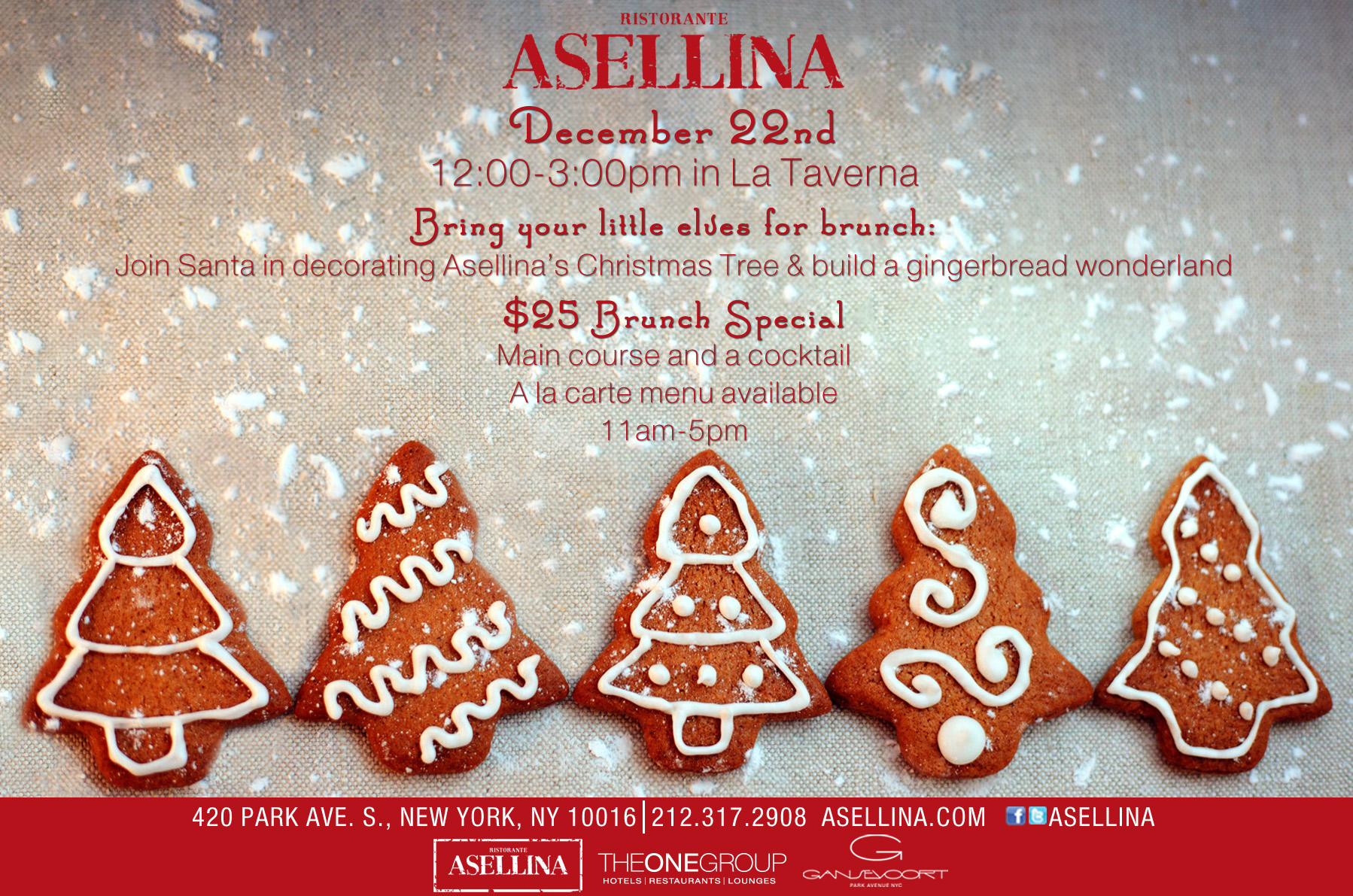 christmas event at asellina
