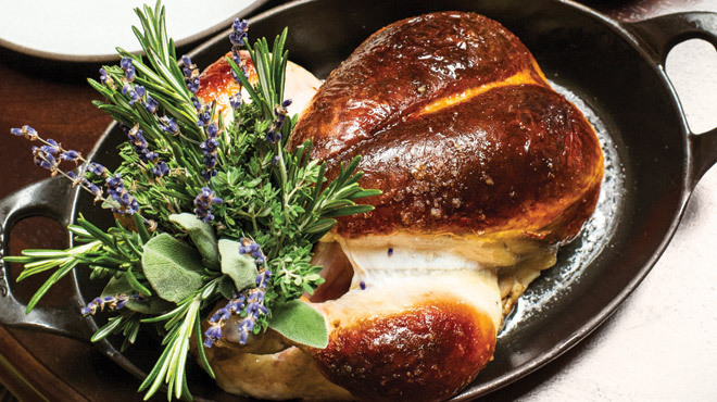 Daniel Humm and The NoMad Restaurant's highly-acclaimed roast chicken.