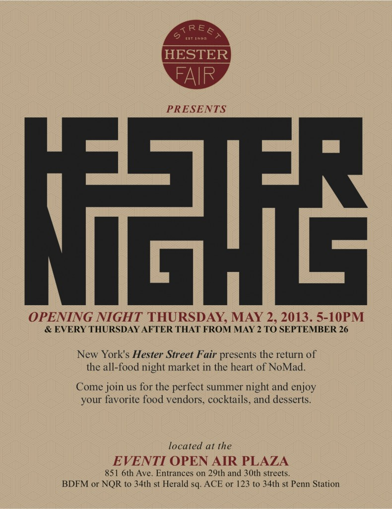Hester Nights Opening in the NoMad Neighborhood on May 2nd