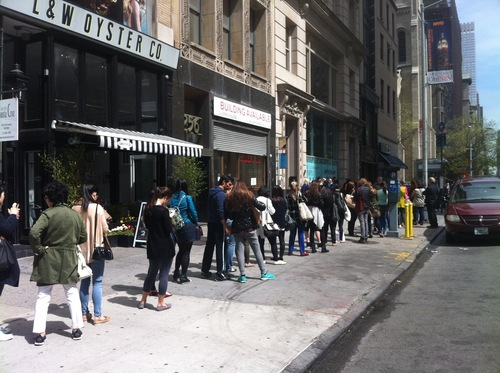 lines around the block for the rebecca minkoff 2013 sample sale