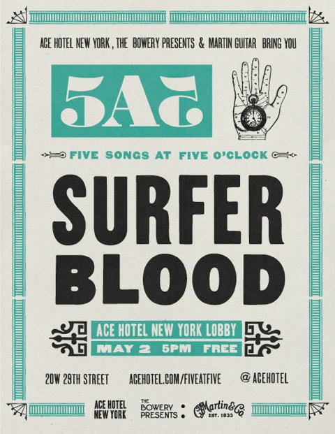 a surfer blood acoustic concert will take place at ace hotel