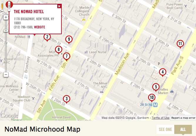 curbed microhood map of trendy neighborhood nomad new york