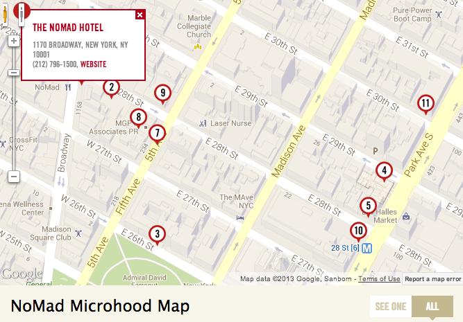 curbed microhood map of trendy neighborhood nomad new york