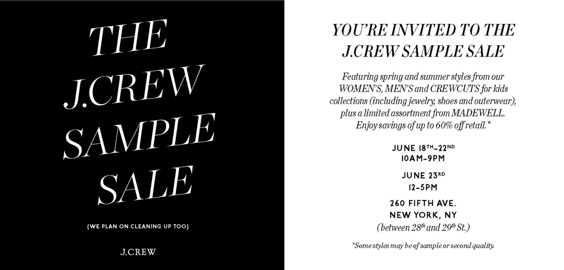 J Crew Sample Sale 2013 This Week in the NoMad Neighborhood