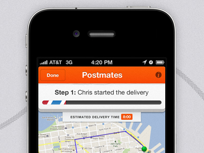 postmates will deliver to the nomad district in nyc in under an hour