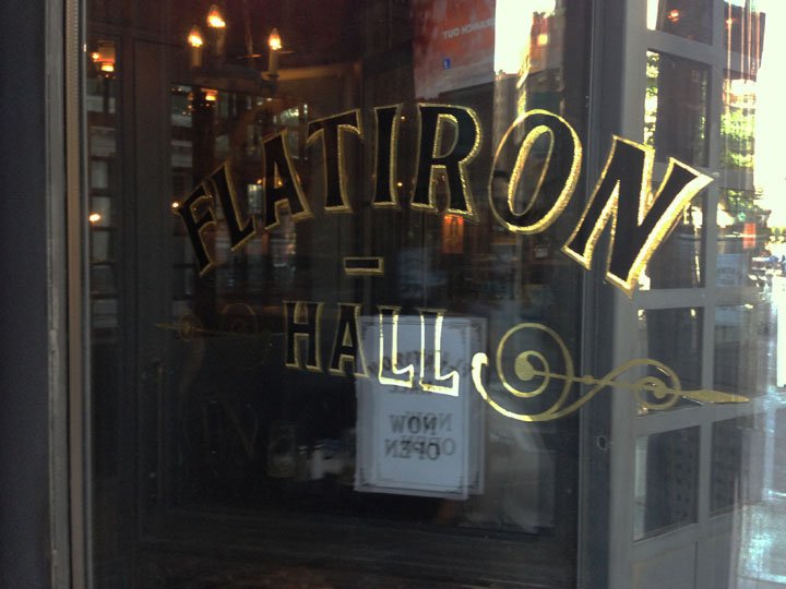 Flatiron beer hall opens in NoMad new york.