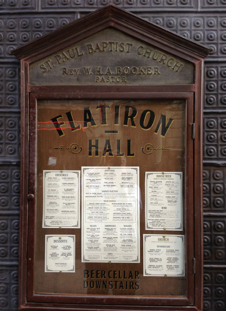 Flatiron Hall New York Menu