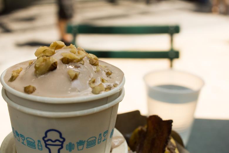 Frozen custard shake shack
