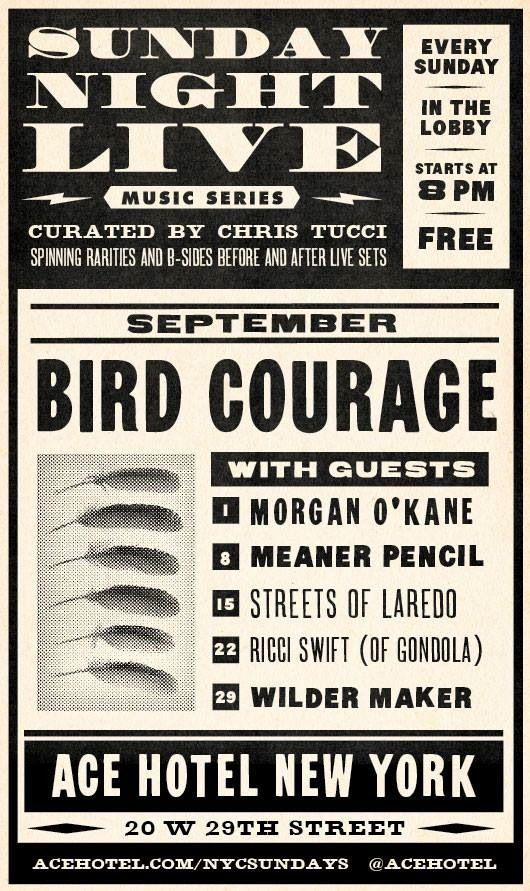 bird courage performs at ace hotel