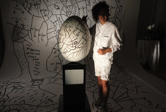 Artist Shantell Martin will install her faberge egg at Ace Hotel this weekend in NoMad