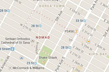 the nomad neighborhood is featured in google maps