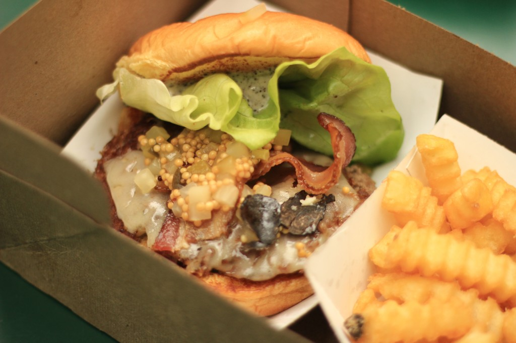 daniel humm shake shack burger with truffles