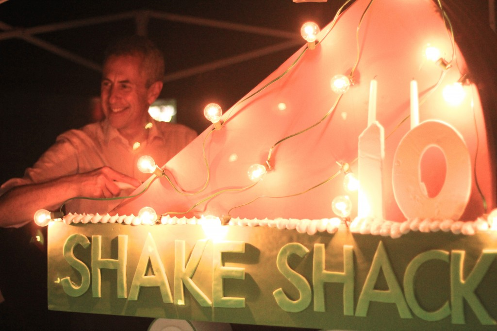 shake shack birthday cake with danny meyer