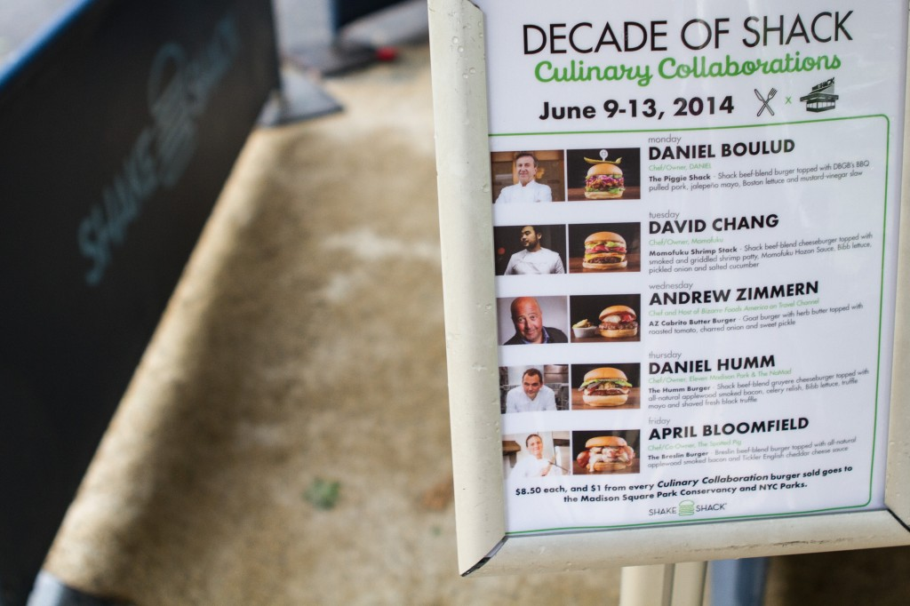 shake shack x lineup of chefs
