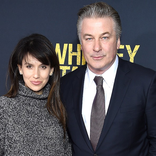 """NEW YORK, NY - MARCH 01:  Hilaria Thomas (L) and Actor Alec Baldwin attend the """"Whiskey Tango Foxtrot"""" world premiere at AMC Loews Lincoln Square 13 theater on March 1, 2016 in New York City.  (Photo by Dimitrios Kambouris/Getty Images)"""