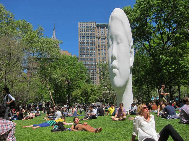 Madison Square Park hosts a number of public art and music series.