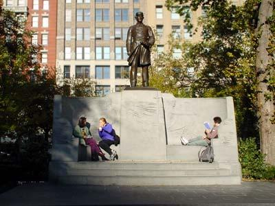 ExperienceNoMad discusses the rich history of Madison Square Park and the park's numerous statues