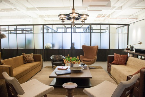 NeueHouse in NoMad offers high tech facilities and sleek shared office space.