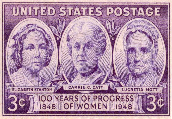 An honorary postage stamp for the Suffrage Movement.