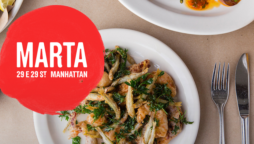 Head over to Marta in the NoMad District and try out Danny Meyer's new Roman-style pizzeria.