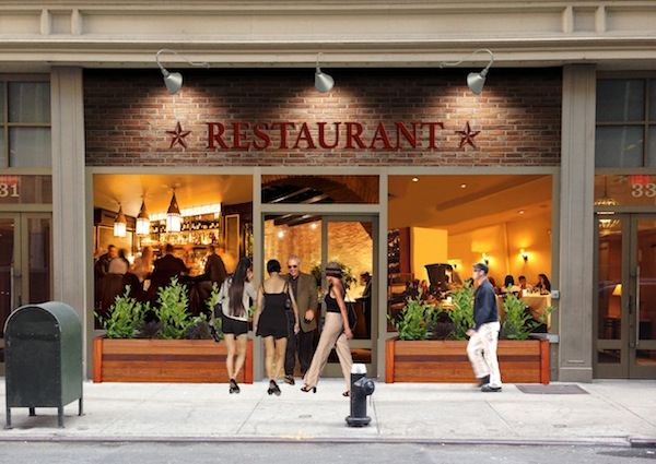 An artist's rendering of the forthcoming Prime & Wine Kosher Steakhouse, sure to be one of the best kosher restaurants in NYC.