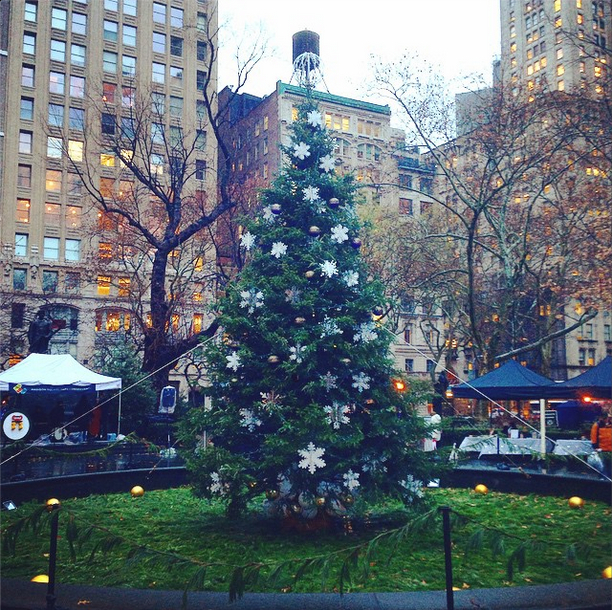 Madison Square Park celebrated the Holidays this past Tuesday with the annual Holiday Tree Lighting ceremony.