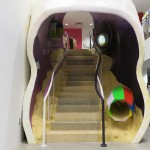 Arakawa and Gins' 'Biotopological Scale Juggling Escalator' has become a trademark of DSMNY since the market's launch in late 2013.