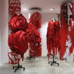 DSMNY's ground floor features the Comme des Garçons installation 'Blood and Roses.'
