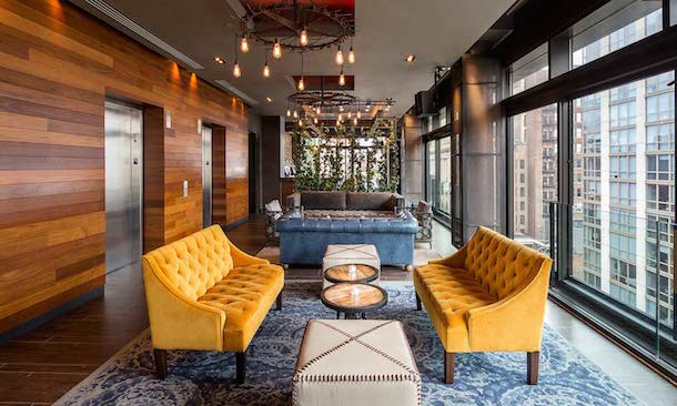 gansevoort park hotel pool bar coworking space