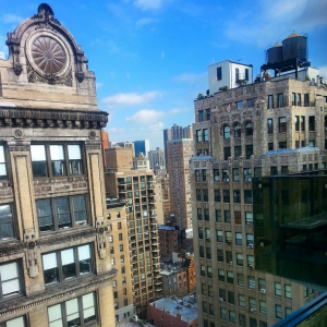 view from gansevoort park hotel coworking space