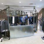 The Junya Watanabe and Comme des Garçons 2nd floor showroom.