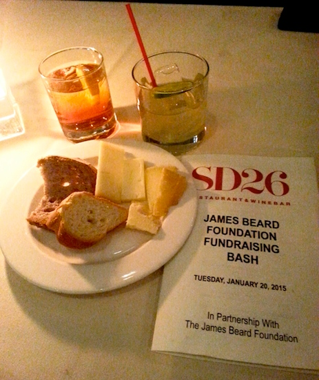 Italian Restaurant SD26 hosted the James Beard Foundation fundraising benefit for the tony may scholarship