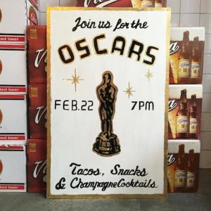 oscars viewing party nomad tacos snacks champagne