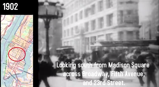 madison square park dewey arch historical footage new york city