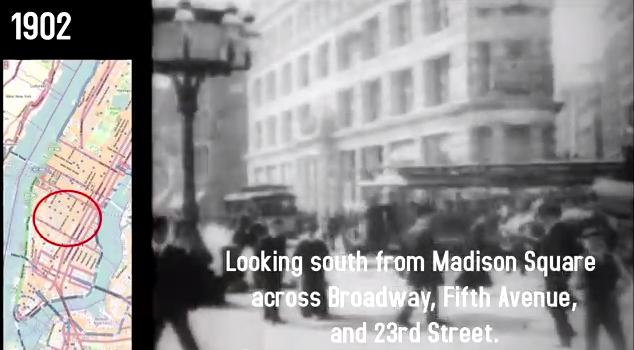 madison square park dewey arch historical footage new york city