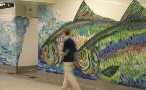 Franz Mayer, Mayer of Munich, mosaic in Delancey Essex Street Station