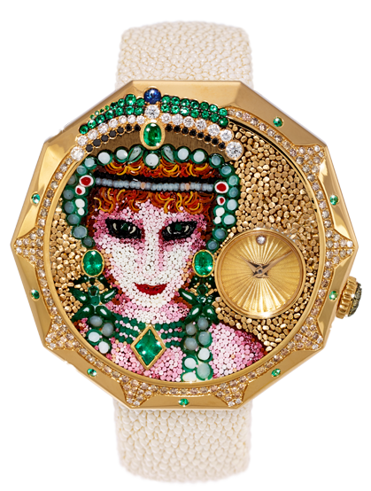 A micromosaic watch from high-end Italian jeweler Sicis, who recently relocated to the NoMad neighborhood.