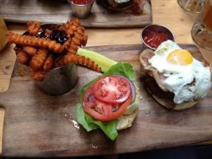 Tavern 29 Brunch Hangover Burger