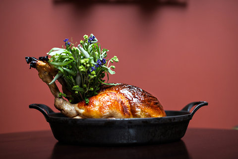 Foie gras stuffed bird - best restaurants in the world