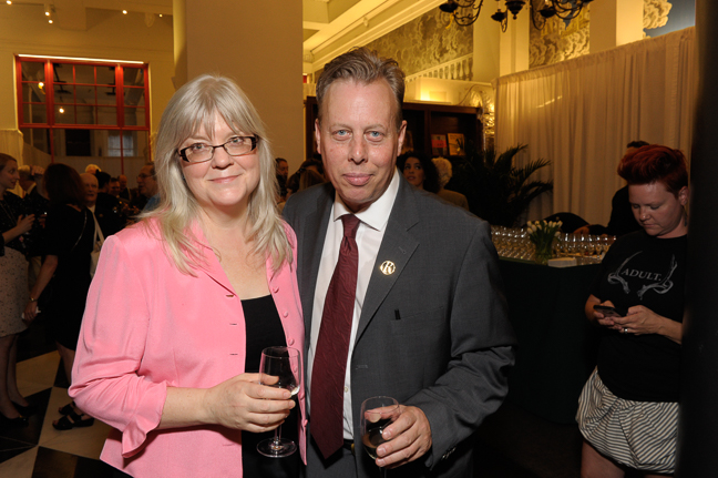 Chad Bunning, Store/Operations Manager, Rizzoli Bookstore with Wendy Wendalyn Nichols, Publishing Manager of Cambridge University Press.