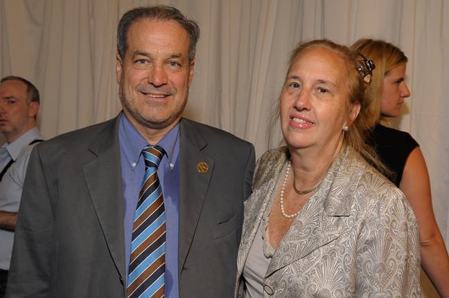 Marco Ausenda, President & CEO, Rizzoli NY with Gale Brewer, Borough President of Manhattan.