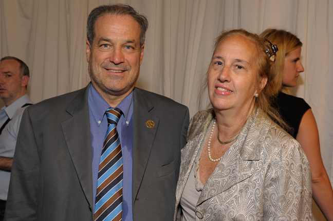Marco Ausenda, President & CEO, Rizzoli NY with Gale Brewer, Borough President of Manhattan.