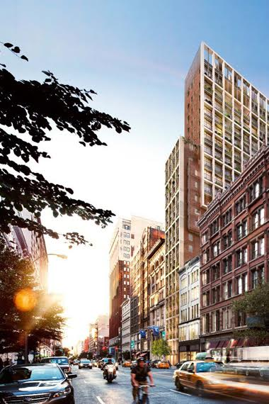 Rendering by Cookfox of proposed building at 23rd St