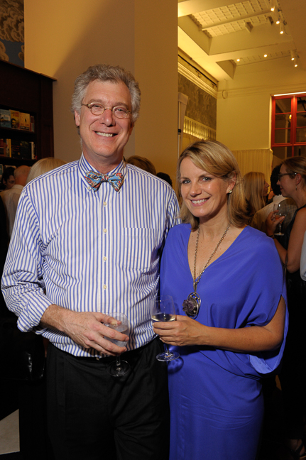 Tom Kligerman, Partner, Ike, Kligerman, Barkley, Designers of Rizzoli Bookstore with Meg Touborg.