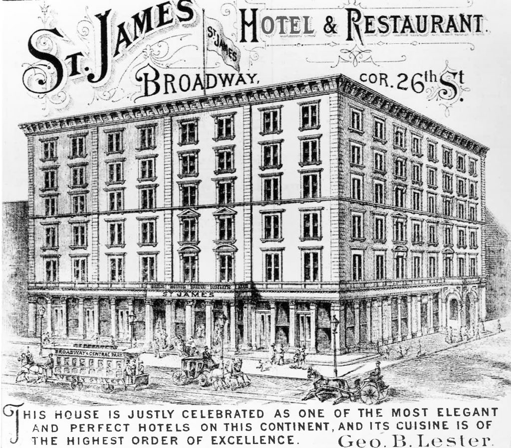 Drawing of the St. James Hotel